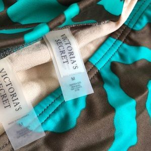 Victoria's Secret Swim - green & brown zebra victoria's secret bikini sz M